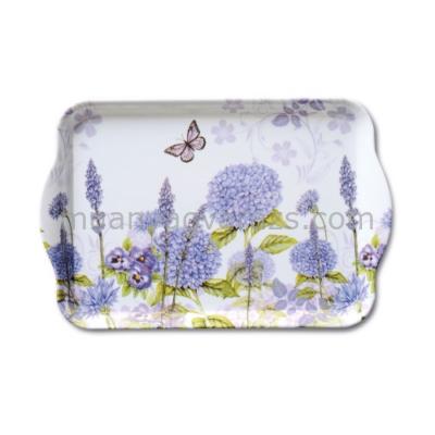 AMB.13709310 Purple Wildflowers műanyag kistálca 13x21cm