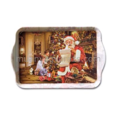AMB.33705040 Christmas Eve műanyag kistálca 13x21cm