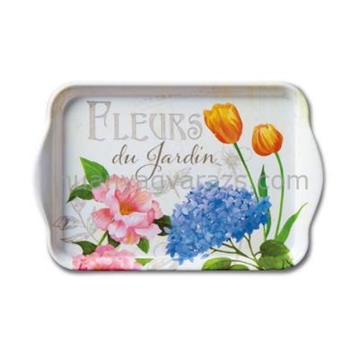 AMB.13709885 Fleurs du Jardin műanyag kistálca 13x21cm
