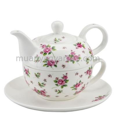 AMB.18111355 Evelyn white porcelán egyszemélyes teás + alj 0,3l