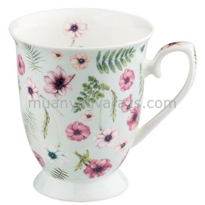 AMB.18711475 Anemones green porcelán bögre 0,25l