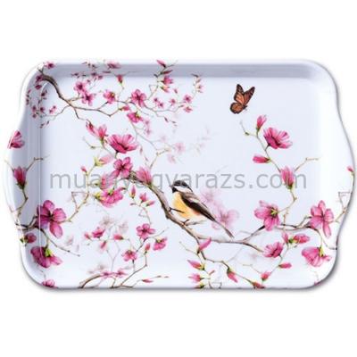 AMB.13711215 Bird & Blossom white műanyag kistálca 13x21cm
