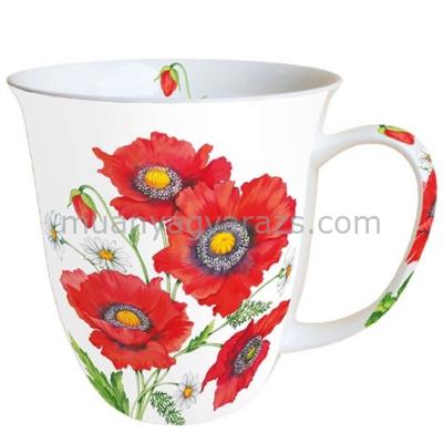 AMB.18411660 Poppy Scene porcelán bögre 0,4l