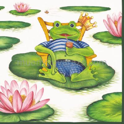 AMB.13305985 Holiday Frog papírszalvéta 33x33cm,20db-os