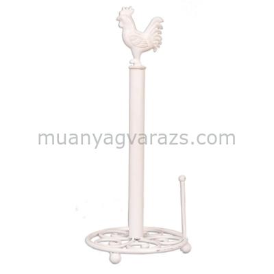 CLEEF.6Y0518W Papírtörlő tartó asztali fehér 18x43cm,kakasos