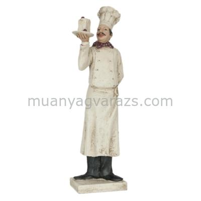 CLEEF.6PR0554 Dekor figura 12x13x50cm,szakács