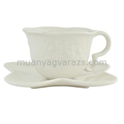 CLEEF.GBKS Porcelán pillangós csésze+alj 15x7cm
