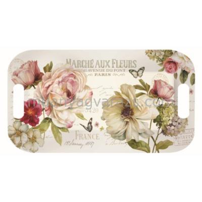 R2S.404FLEU Melamine tálca 40x21cm,Marche Aux Fleurs