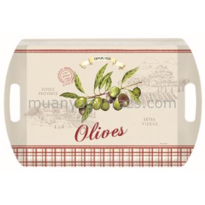 R2S.A28100OLIV Melamine tálca 52x35cm, Olives