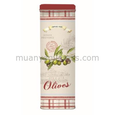 R2S.076OLIV Spagettis fémdoboz 10x7x29cm, Olives