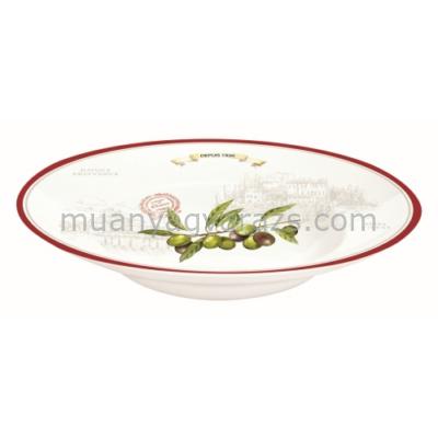 R2S.818OLIV Porcelán kínáló tésztatál 30cm, dobozban Olives