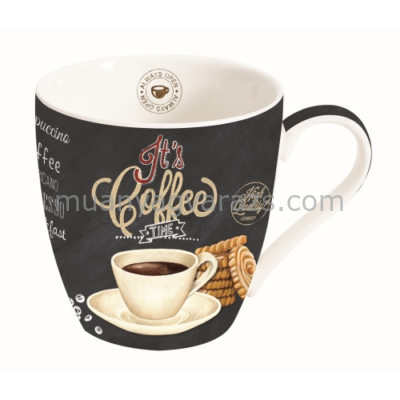 R2S.1010ICTW Porcelán bögre 350ml, dobozban, It's Coffee Time White