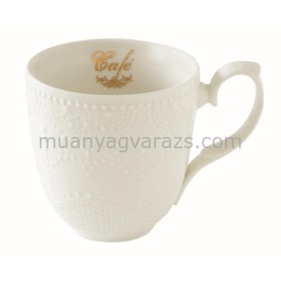 R2S.1265MAFE Porcelán bögre 320ml, dobozban Maison Café