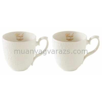 R2S.1267MAFE Porcelán bögreszett 2db-os, 320ml, dobozban Maison Café