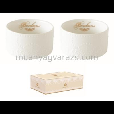 R2S.1276MADE Porcelán tálka szett 2db-os 8,5cm,dobozban,Maison Chic