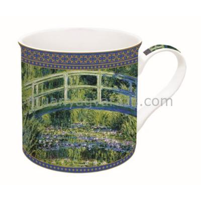 R2S.170MON1 Porcelán bögre dobozban 300ml,Monet:Vizililiom és Japán híd