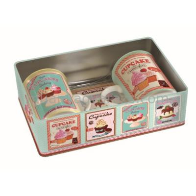 R2S.216CUPP Bögreszett 2db-os parafa poháralátéttel fémdobozban, Cupcakes Pink
