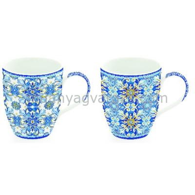 R2S.923MAIB Porcelán bögreszett 2db-os dobozban, 350ml, Maiolica Blue