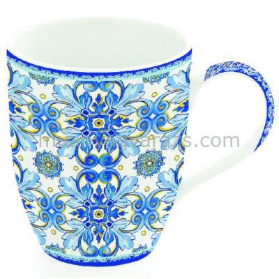 R2S.941MABW Porcelán bögre 350ml, Maiolica Blue White