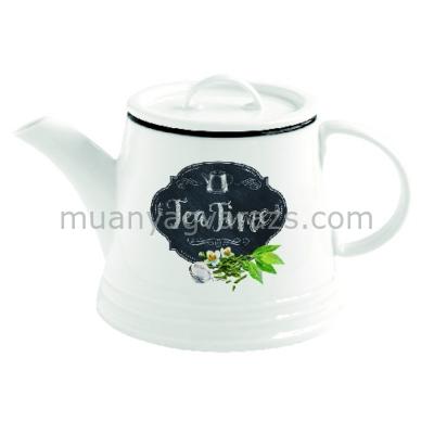 R2S.1605KIBT Porcelán teáskanna 900ml, Kitchen Basics