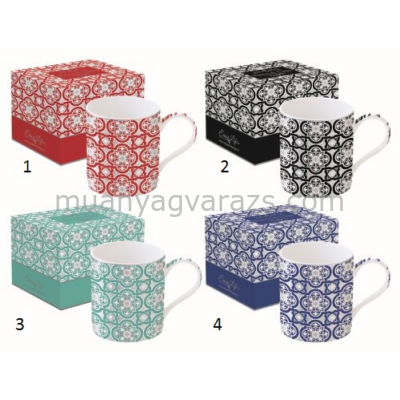 R2S.135DCAR porcelán bögre 350ml,dobozban,Deco Chic Arabesque