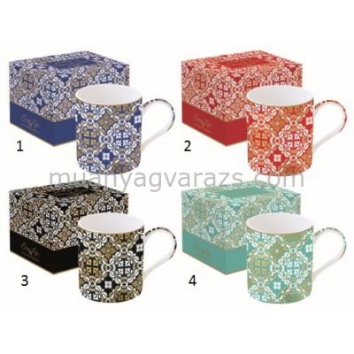 R2S.135DCDA Porcelán bögre 350ml,dobozban,Deco  Chic Damask