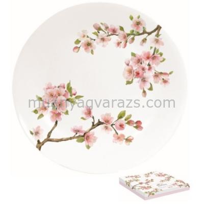 R2S.1083SAKU Porcelán desszerttányér 19cm,dobozban,Sakura