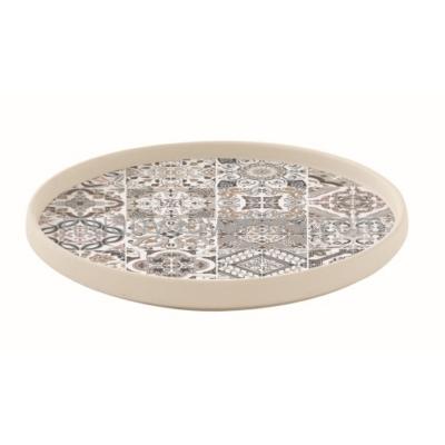 R2s.1652CADG Porcelán desszerttányér 21cm,Casa Decor grey