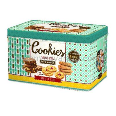 R2S.080COOS Kekszes fémdoboz 22x14x13cm, Cookies