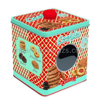 R2S.092ENCO Ablakos fémdoboz 13x13x14,5cm, Enjoy Cookies