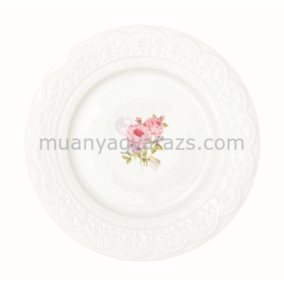 R2S.1020RSE Porcelán desszerttányér szett 4db-os, 19cm dobozban, Roses