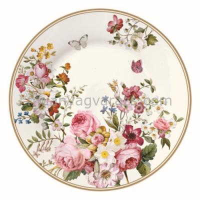 R2S.1358BLOC Desszerttányér 19cmdobozban,Blooming Opulence cream