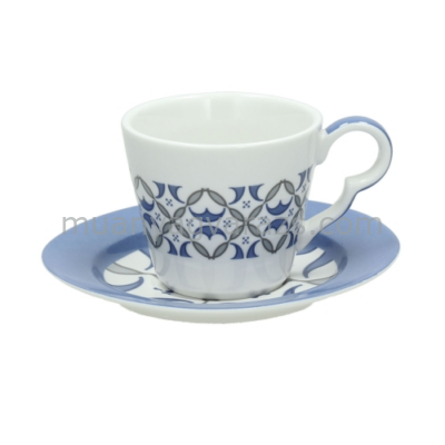 T.P.TJ085014146 Porcelán presszócsésze+alj 100ml,6 személyes szett,Tea Time Tea Shop,Andrea Fontebasso1760