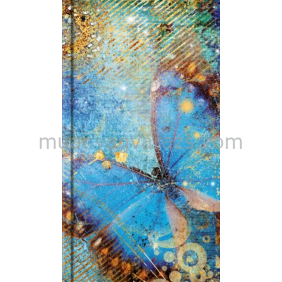 L.P.11NS-308 Notesz kemény fedeles,puha borítással,A6-144 vonalas oldal,kék pillangós