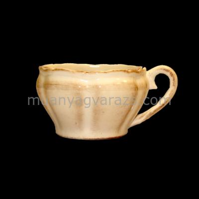 V.K.27-05 Romantik kávéscsésze natur,kerámia,kézzel festett