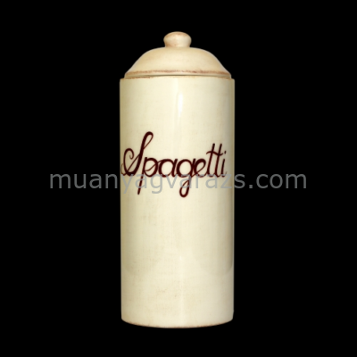 V.K.27-20 Romantik spagettitartó,natur,kerámia,kézzel festett
