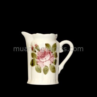 V.K.44-02 Romantik rózsás tejkiöntő,kerámia,kézzel festett