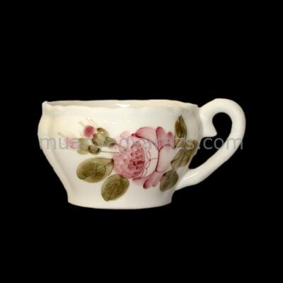 V.K.44-07 Romantik rózsás teáscsésze,kerámia,kézzel festett