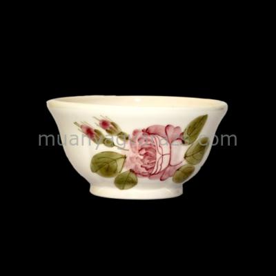 V.K.44-12 Romantik rózsás tálka,kerámia,kézzel festett