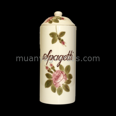V.K.44-20 Romantik rózsás spagettitartó,kerámia,kézzel festett