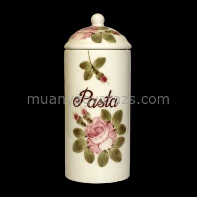 V.K.44-23 Romantik rózsás tésztatartó,kerámia,kézzel festett