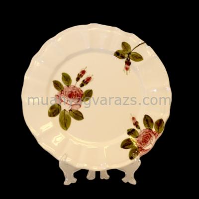 V.K.44-26 Romantik rózsás desszerttányér,kerámia,kézzel festett