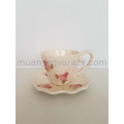 V.K.50-06 Violin rózsás alj,kerámia,kézzel festett