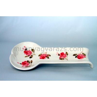 V.K.50-11 Violin rózsás lapos fakanáltartó,kerámia,kézzel festett