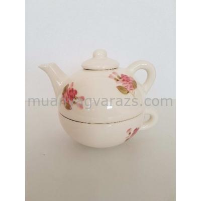 V.K.50-17 Violin rózsás egyszemélyes teás,kerámia,kézzel festett