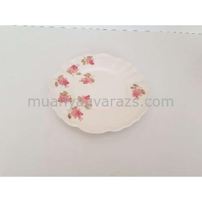V.K.50-26 Violin rózsás desszerttányér,kerámia,kézzel festett