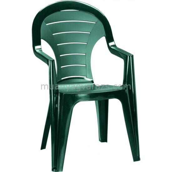 Bonaire magasháttámlás műanyag kerti szék