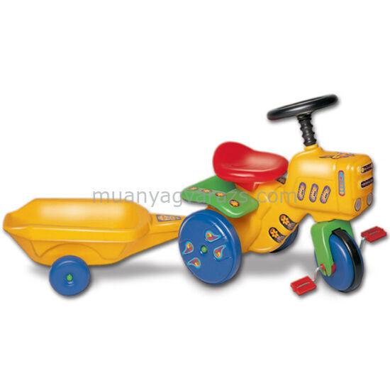 Kerti traktor+utánfutó