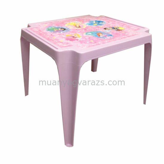 Gyerek kisasztal Hercegnő mintával