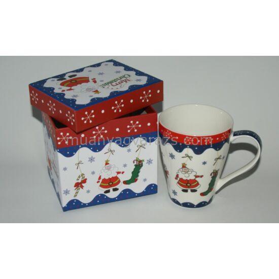 Karácsonyi bögre 3 dl ajándék díszdobozban